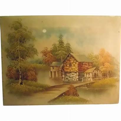 Mill Water Artist Zeller Oil Canvas