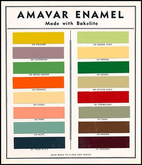 bakelite enamel paint colours popular during deco period http www decopix art deco