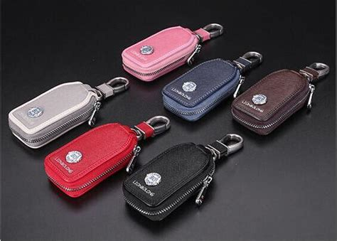 2018 New Grey & Brown Car Key Cover Frost Leather Auto Key