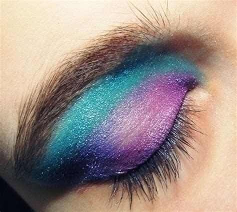 pinkturquoise eyes   toned eye makeup