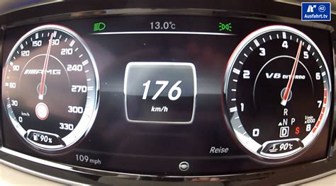 What Is 300 Km In Mph by Check Out An S 63 Amg W222 Go From 0 To 176 Km H 109 Mph