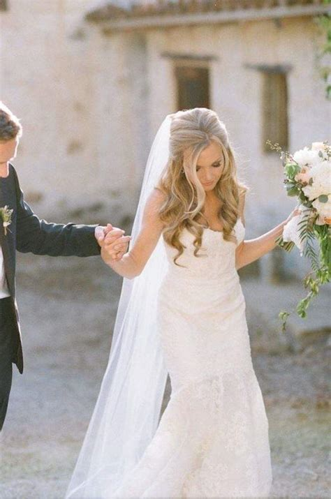 half up half down bridal hair wedding hair bride half up half down wedding hairstyles modwedding