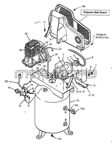 Coleman Powermate ML7006016 Air Compressor Parts