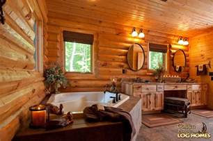 log home bathroom ideas golden eagle log and timber homes log home cabin pictures photos lodge 2838al