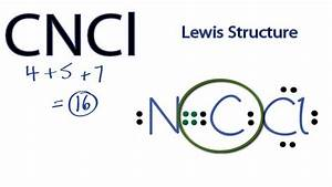 Cncl Lewis Structure  How To Draw The Lewis Structure For Cncl
