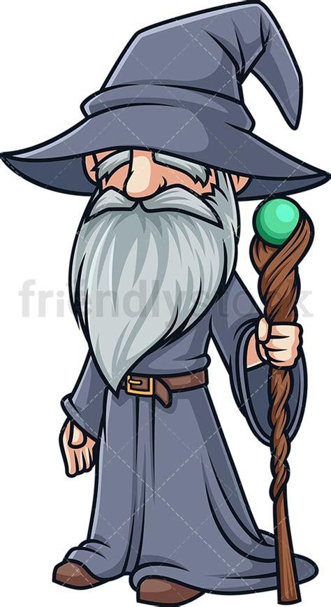 Wizard With Beard Cartoon Clipart Vector - FriendlyStock