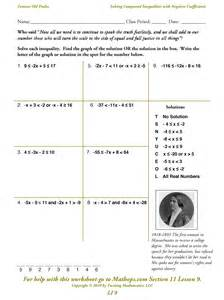 compound inequality worksheet solving compound inequalities worksheet virallyapp printables worksheets