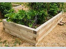 4x4 raised bed vegetable garden Fasten each tier on to
