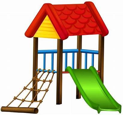 Clipart Slide Clip Playground Park Roof Play