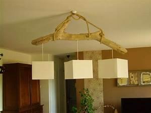Lustre En Bois : lustre en bois flotte ~ Teatrodelosmanantiales.com Idées de Décoration