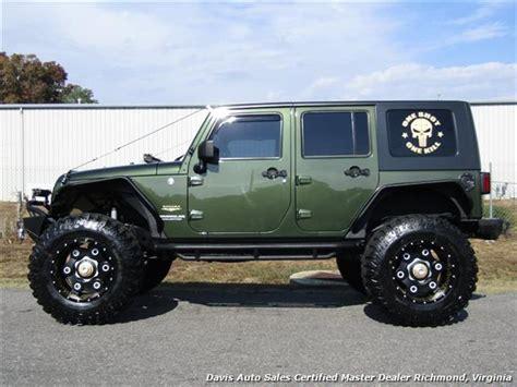 jeep wrangler unlimited sahara lifted manual  hard top