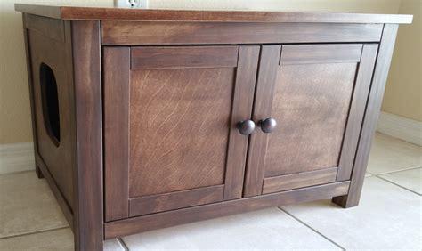 custom litter box cabinets large odor free custom hand made in usa wood cat litter