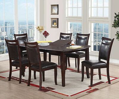 dining room furniture pc set dark brown cushion seat