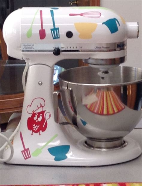 Kitchen Mixer Decals by Kitchenaid Stand Mixer With Silhouette Vinyl Decals