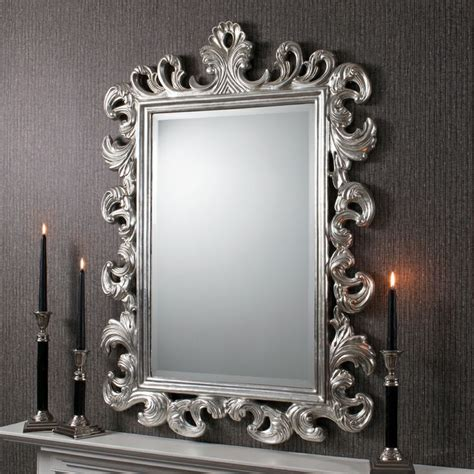 Silver Wall Mirrors Decorative - high ultra chic decor large decorative mirrors royale