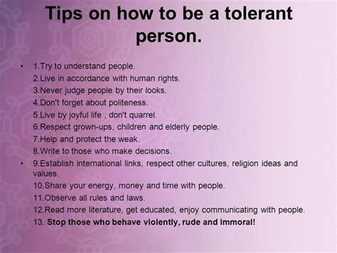 tolerance will save the world ppt