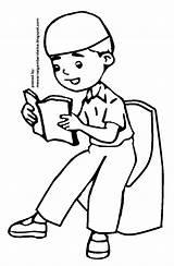 Anak Muslim Gambar Mewarnai Sketsa Mengaji Kartun Coloring Sketch Pesawat Kursi Hewan Binatang Bunga sketch template