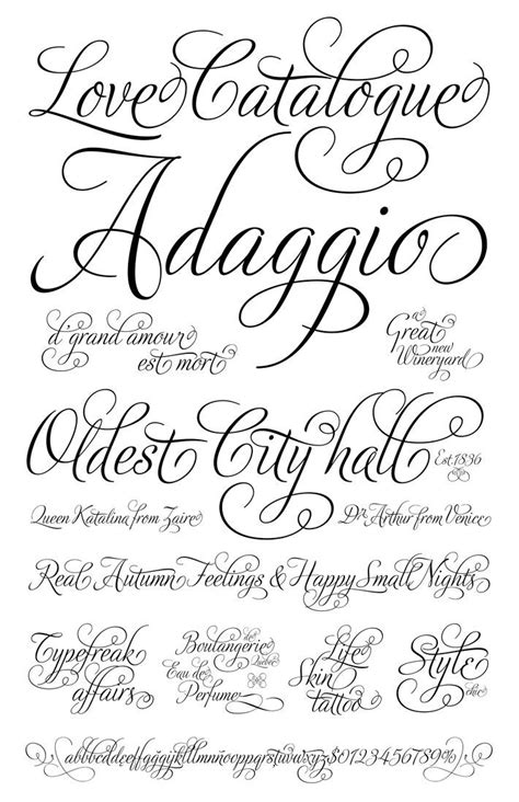 unique cursive fonts  tattoos ideas  pinterest