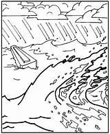 Flood Coloring Noah Earth Sketch Template sketch template