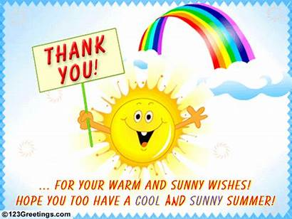 Thank Summer Wishes Greetings Warm Sunny Everyone