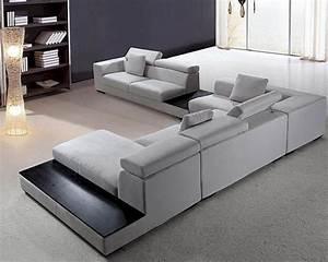 grey, microfiber, contemporary, sectional, sofa, set, 44l0615
