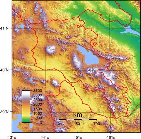 Ģeogrāfiskā karte - Armēnija - 1,318 x 1,305 Pikselis - 3 ...