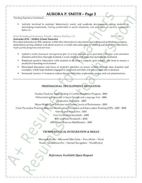 Special Education Resume by Special Education Resume Sle Resume Exles