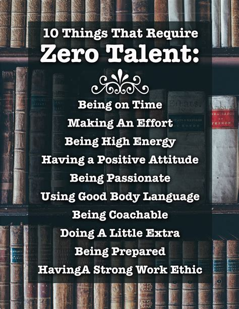 10 Things That Require Zero Talent, Inspirational Print