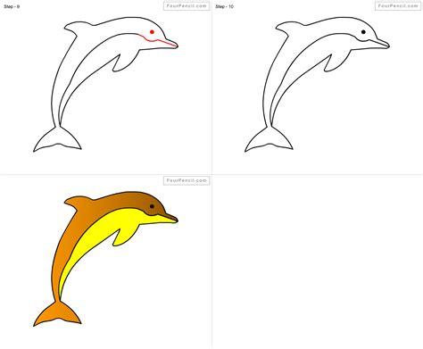 fpencil   draw dolphin  kids step  step