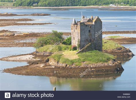 Small Medieval Castle On Small Island In Loch Linnhe