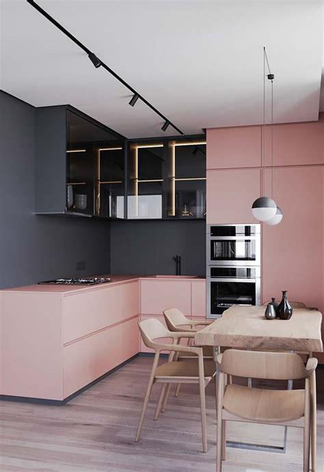 cozinha rosa  ideias tendencias  projetos