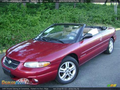 1996 Chrysler Sebring Jxi by 1996 Chrysler Sebring Jxi Convertible Radiant