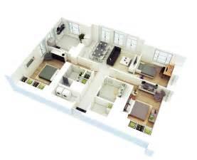 3 bedroom floor plan 25 more 3 bedroom 3d floor plans