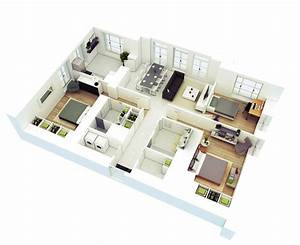 13 More 3 Bedroom 3D Floor Plans – Amazing Architecture ...