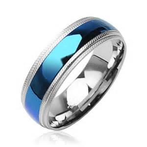 blue wedding ring blue titanium wedding rings the wedding specialists
