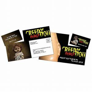 Customized laminated postcard with detachable horizontal for Postcard business cards