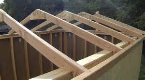 Ceiling Joist Span 2x4 by How To Build A Shed Building Amp Installing Roof Rafters