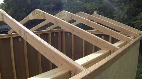 how to build a shed building installing roof rafters