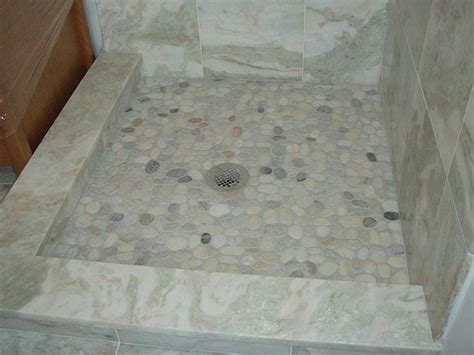Marble Shower Threshold by Low Marble Capped Shower Curb With Higher Tile That Slopes
