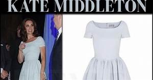 Kate Middleton in light blue dress and black sandals at ...