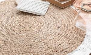 decoration tapis rond 88 reims tapis rond jute blanc With grand tapis rond pas cher