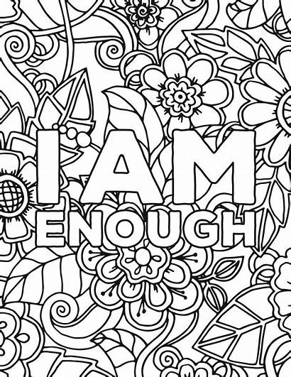 Coloring Affirmation Printable Adult Quotes Adults Pdf