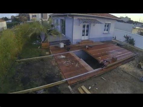 realisation dune terrasse avec terrasse amovible sur