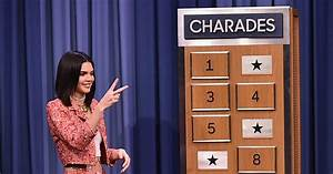Kendall Jenner Plays Charades with Jimmy Fallon u2013 Watch Now!   Jimmy Fallon Kendall Jenner ...