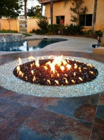 Backyard BBQ Island   Contemporary   Fire Pits   los