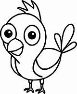 Bird Coloring Drawing Getdrawings sketch template