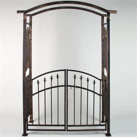 porte ustensiles cuisine arche de jardin avec portillon bronze 207 x 140 x 50 cm