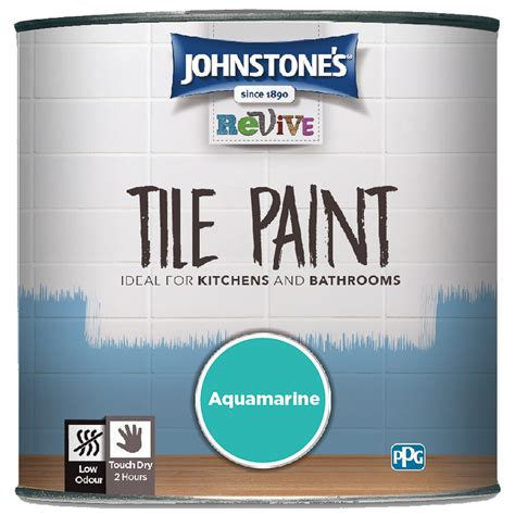 johnstones revive tile paint ml aquamarine paint bm