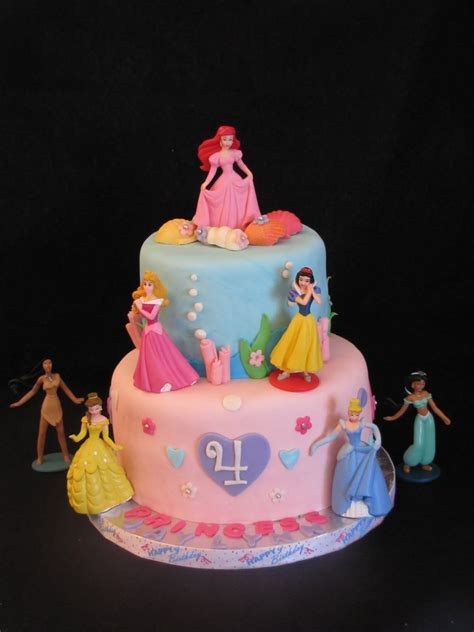Disney Princess Themed Birthday Cake This Four Year Old