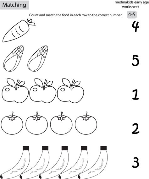 6 Best Images Of Number Matching Printables  Matching Numbers To Name Worksheet For